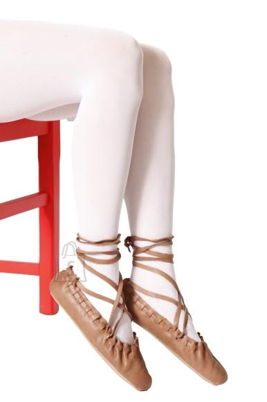 Sokisahtel ECOCARE 3D 40DEN valged recycled naiste sukkpüksid rahvariiete juurde L/XL