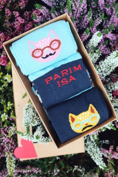 Sokisahtel PARIM ISA isadepäeva kinkekarp 3 sokipaariga 40-45