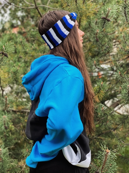 Sokisahtel Eesti lipuvärvides peapael one size