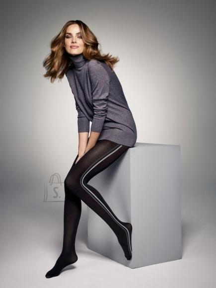 Sokisahtel JESS 60DEN mustad halli triibuga sukkpüksid naistele S