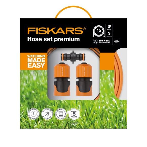 """Fiskars kastmisvoolikukomplekt Premium Q4 9mm(3/8"""") 15m"""