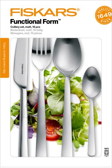 Fiskars Functional Form 16-osaline söögiriistade komplekt