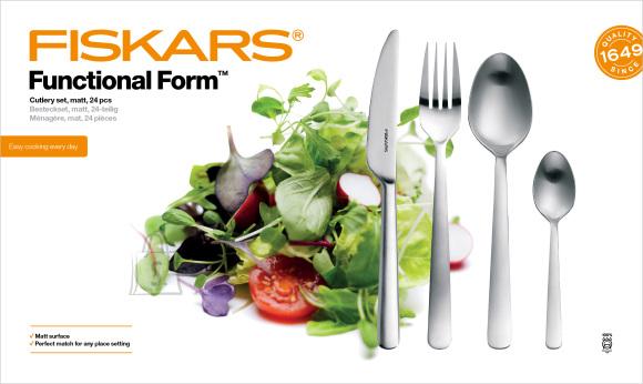 Fiskars Functional Form 24-osaline söögiriistade komplekt, matt