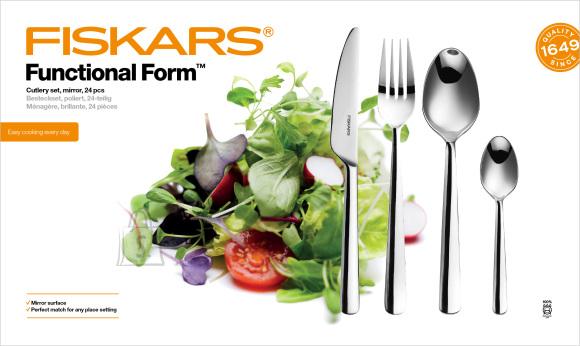 Fiskars Functional Form 24-osaline söögiriistade komplekt, läikega