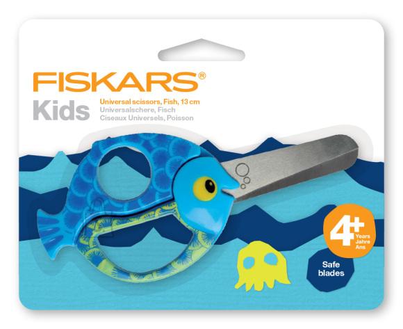 Fiskars 4+ lastekäärid, kala