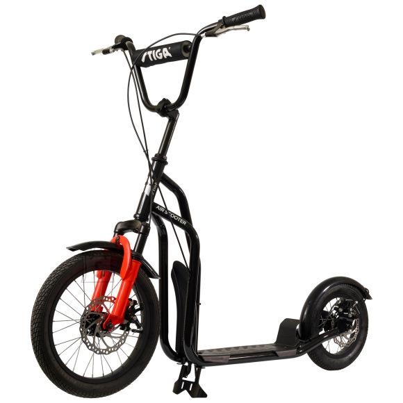 "Stiga Tõukeratas Air Scooter 16""must/punane"