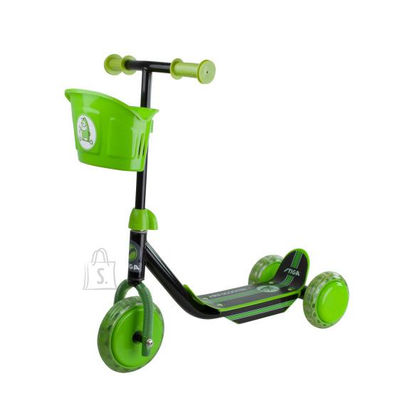 Stiga 3-rattaline laste tõukeratas must/roheline