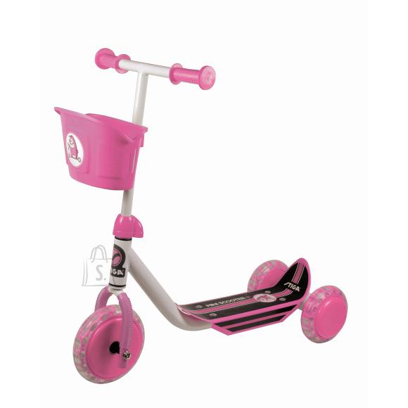 Stiga 3-rattaline laste tõukeratas roosa