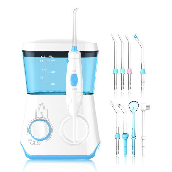 Gess GESS AQUA PRO koos 8 multifunktsionaalsete joa otsikutega, suu irrigator pere hamba hoolduseks, vee irrigator