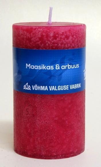 Võhma Valguse Vabrik Käsitöö lõhnaküünal Maasikas ja arbuus 7x12cm, 65h