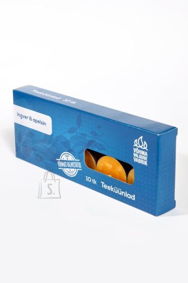 Võhma Valguse Vabrik Lõhnaga teeküünal Ingver ja apelsin 10tk pakis