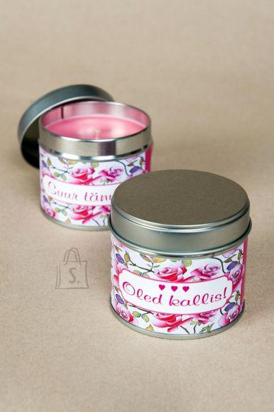 Võhma Valguse Vabrik Taimevahast lõhnaküünal maasika aroomiga 30h