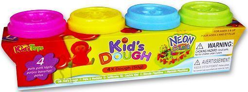 Kid's Dough voolimismass neoonvärvides 4x50 g
