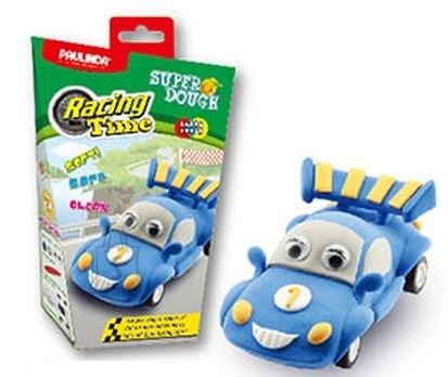 Paulinda voolimiskomplekt SuperDough Ralliauto, sinine