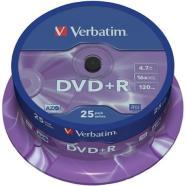 Verbatim DVD+R toorikud 4.7 GB 25 tk
