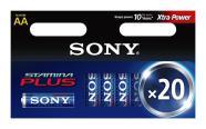 Sony 20 x AA patareid Stamina Plus