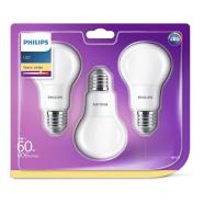 Philips 3 x LED pirn E27, 60W, 806 lm