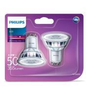 Philips 2 x LED pirn GU10 50W 345 lm