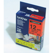 Brother kleebisprinteri lint must kiri punasel taustal 8m x 12mm