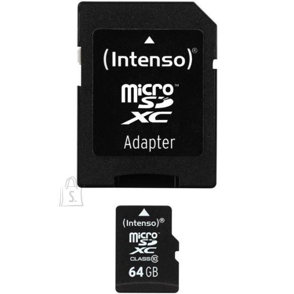 Intenso adapteriga Micro SDHC mälukaart (64 GB)
