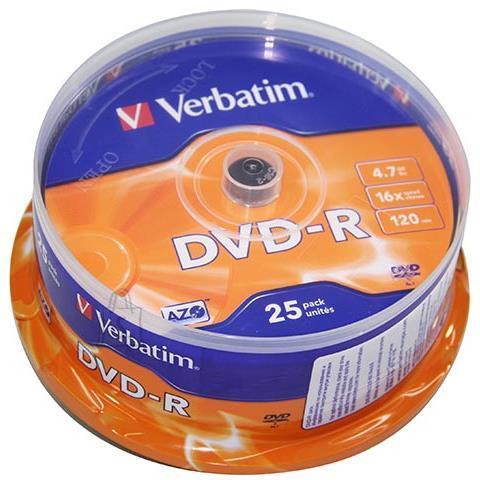 Verbatim DVD-R toorikud 4.7 GB 25 tk