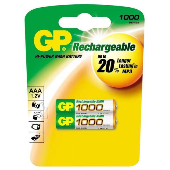 GP 2 x AAA akupatareid 1000 mAh