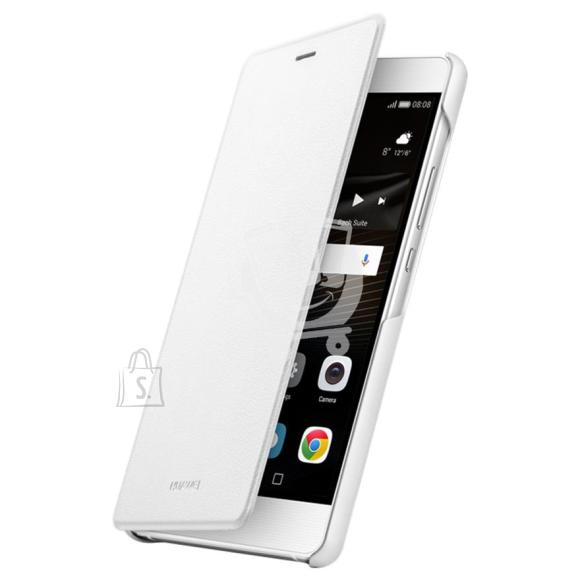 Huawei P9 Lite nahast kaaned, valge