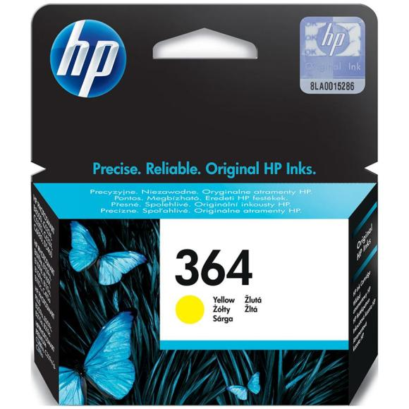 HP tindikassett 364 kollane
