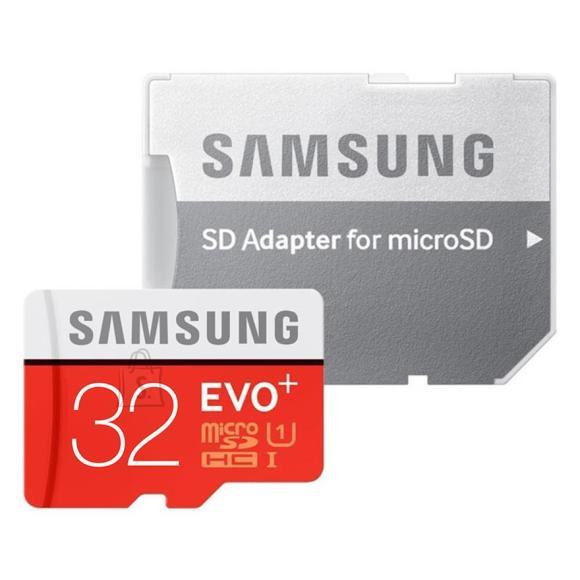 Samsung Micro SDHC mälukaart + adapter EVO+ 32 GB