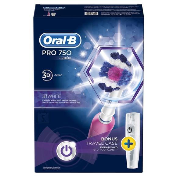 Braun elektriline hambahari Oral-B Pro 750 + reisivutlar