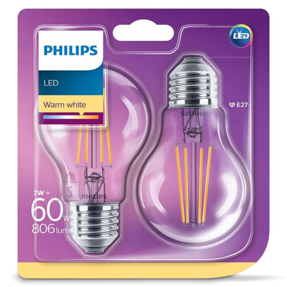 Philips LED lambipirn E27 2tk