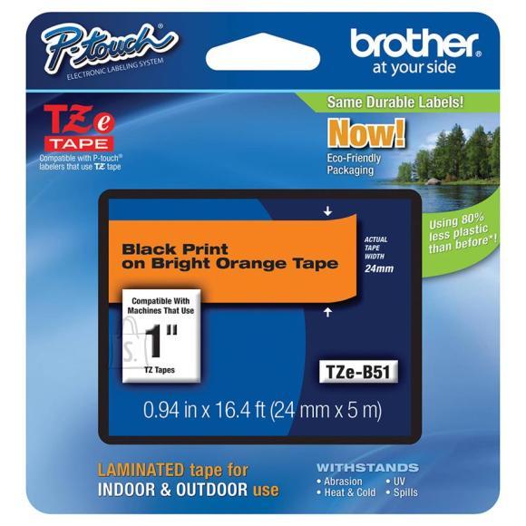 Brother oranž lint musta kirjaga
