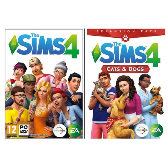 EA Games arvutimäng The Sims 4 + Cats and Dogs Bundle