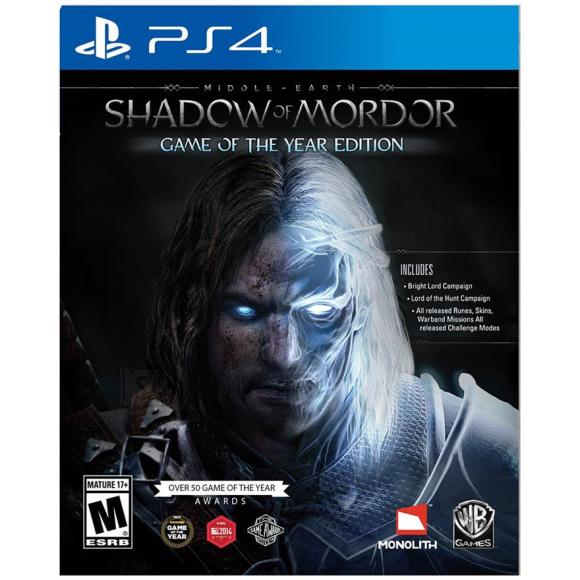 Warner Bros PS4 mäng Middle-earth: Shadow of Mordor Game of the Year Edition