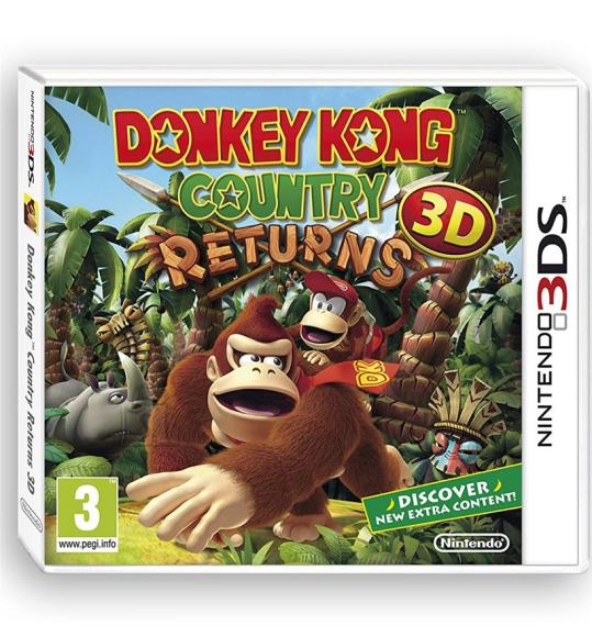 Nintendo 3DS mäng Donkey Kong Country Returns 3D