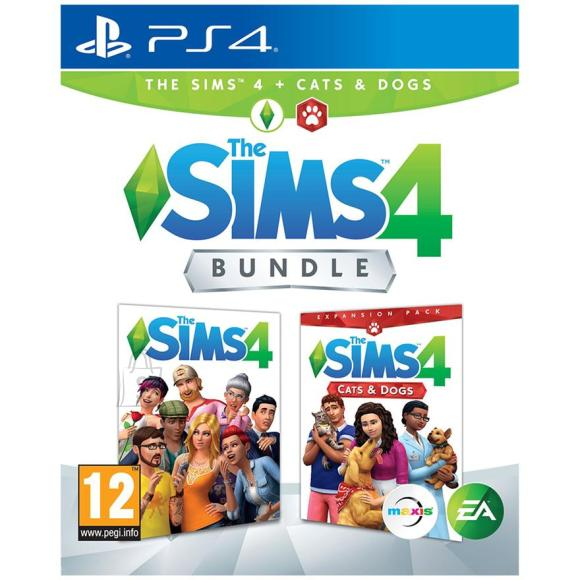 EA Games PS4 mäng The Sims 4 + Cats and Dogs Bundle