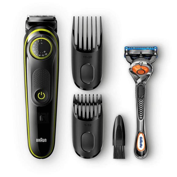 Braun BT3041 habeme- ja juuksepiirel + Gillette Fusion raseerija