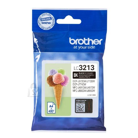 Brother LC3213BK must tindikassett
