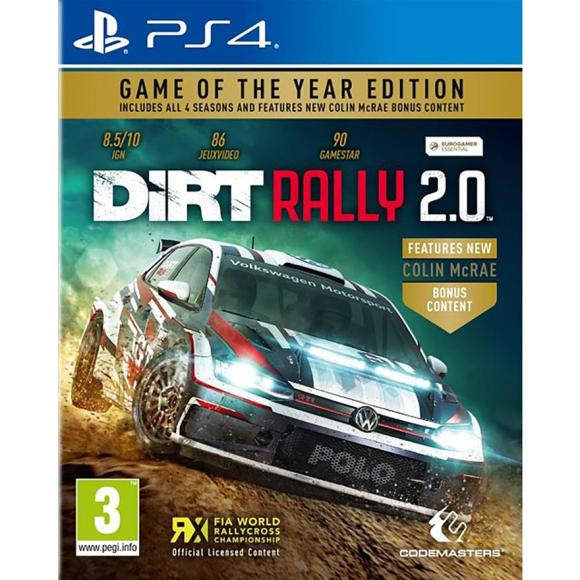 Codemasters PS4 mäng DiRT Rally 2.0 Game of the Year Edition