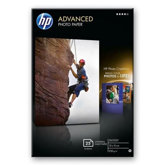 HP Fotopaber HP Advanced Glossy 10 x 15 (25 lehte)