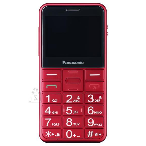 Panasonic <br /><br /> <br /><br /> <p>&bull; 2,4-tolline ja selge LCD ekraan<br />&bull; Suurte ning eraldatud nuppudega klahvistik koos taustavalgusega<br />&bull; K&auml;ed-vabad k&otilde;ned ja SOS nupp telefoni tagak&uuml;ljel<br />&bull; Helitugevuse v&otilde;imendus</p><br /><br /> <strong>TELEFON</strong><br /><br /> T????p: <strong>mobiiltelefon</strong><br /><br /> K??neaeg kuni: <strong>6 h</strong><br /><br /> Ooteaeg kuni: <strong>800 h</strong><br /><br /> <br /><br /> <strong>LIIDESED</strong><br /><br /> Micro usb: <strong>Jah</strong><br /><br /> <br /><br /> <strong>FUNKTSIOONID</strong><br /><br /> Lisafunktsioonid: <strong>alarm, kell, klahvilukk, SOS nupp, taskulamp</strong><br /><br /> Fm raadio: <strong>Ei</strong><br /><br /> Dual-sim: <strong>Ei</strong><br /><br /> <br /><br /> <strong>M????TMED</strong><br /><br /> Laius: <strong>5.9 cm</strong><br /><br /> K??rgus: <strong>12.1 cm</strong><br /><br /> S??gavus: <strong>1.2 cm</strong><br /><br /> Kaal: <strong>100 g</strong><br /><br /> <br /><br /> <strong>KEEL</strong><br /><br /> Men???? keeled: <strong>inglise, eesti, vene</strong><br /><br /> <br /><br /> <strong>??LDISED PARAMEETRID</strong><br /><br /> Tootja: <strong>Panasonic</strong><br />