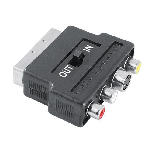 Hama Adapter SCART -- 3x RCA / S-Video, Hama