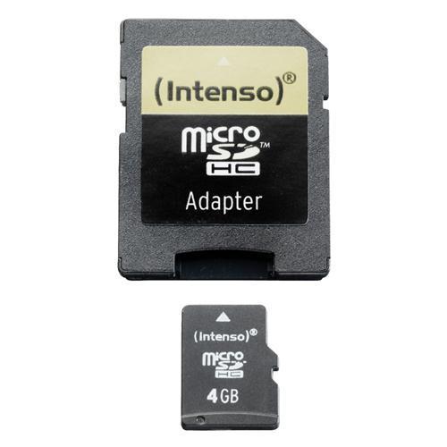 Intenso Mälukaart micro SDHC + SD adapter, Intenso (4 GB)