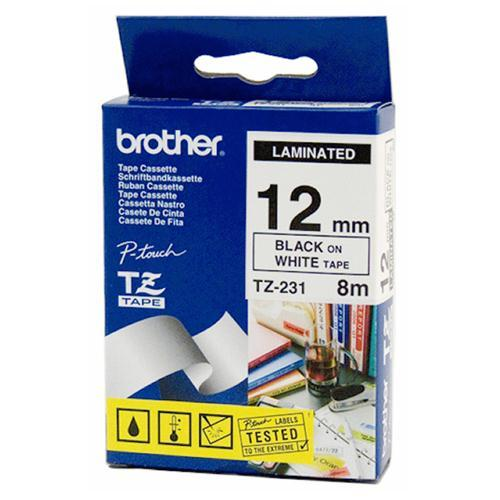 Brother TZE-N231 kleebisprinteri lint lamineerimata 12mm must/valge