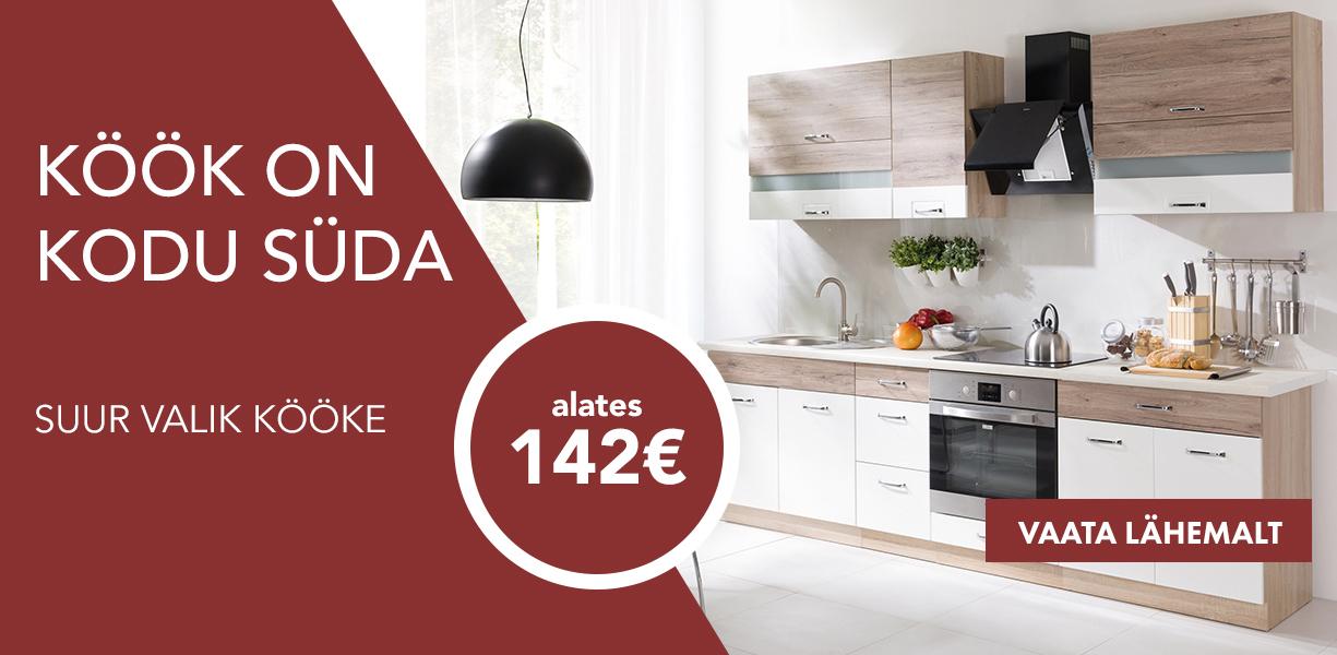 Köök on kodu süda. Suur valik kööke alates 199€