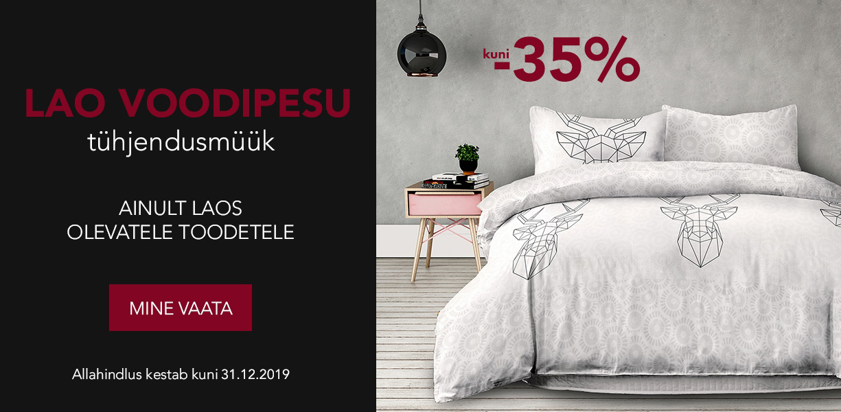 Lao voodipesu tühjendusmüük. kuni -35%