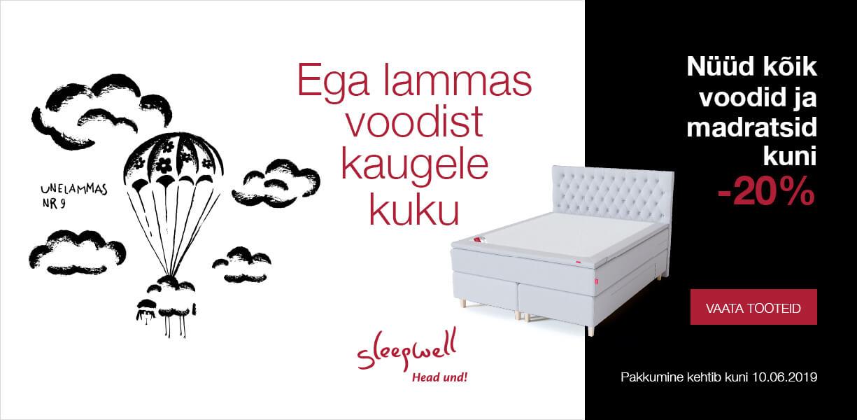 Ega lammas voodist kaugele kuku! Nüüd kõik voodid ja madratsid kuni -20%