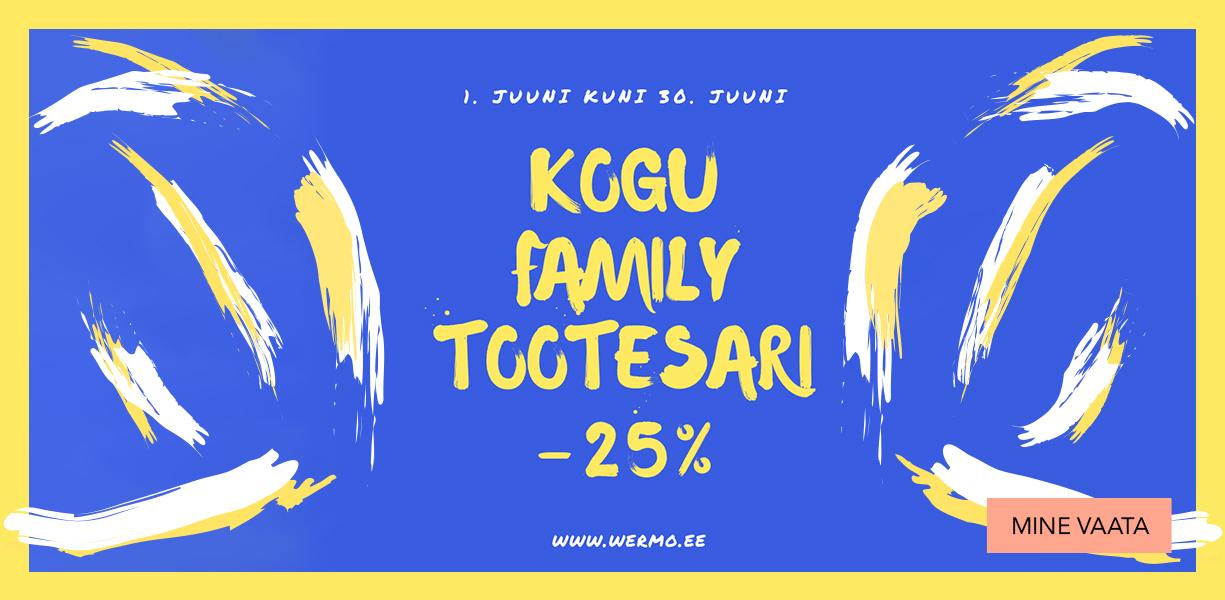 Kogu Family tootesari -25%