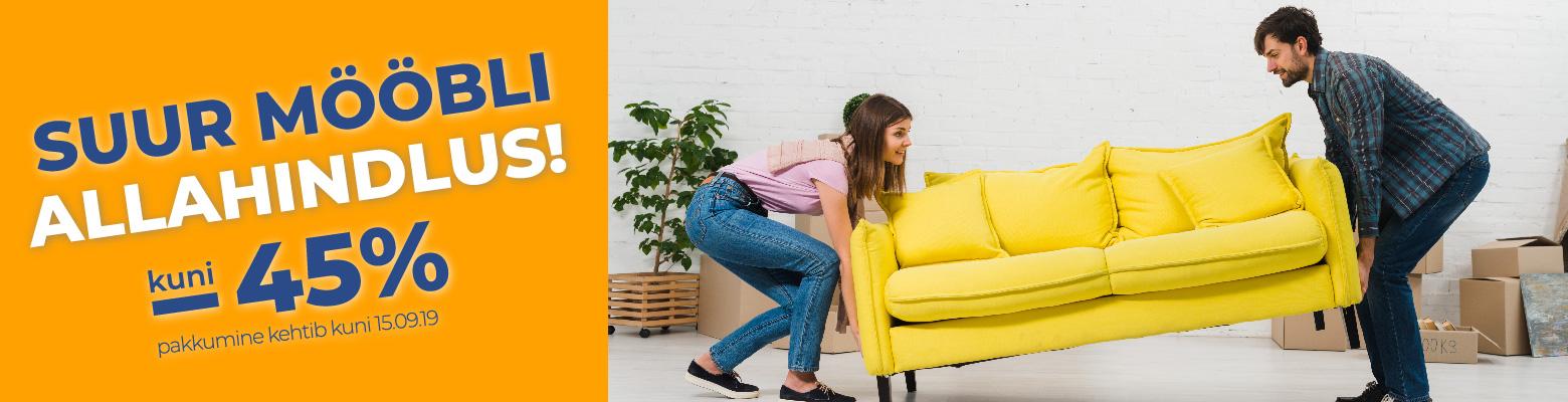 Suur mööbli allahindlus kuni -45%
